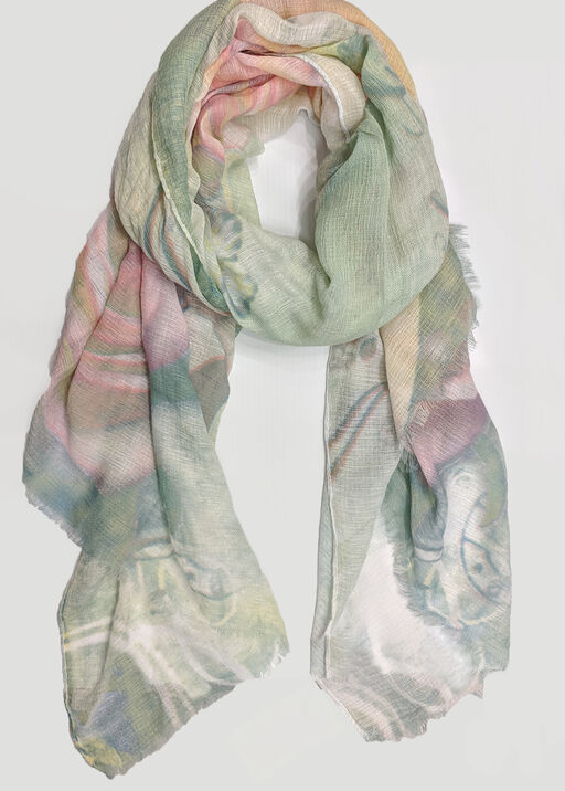 Rosebed for Butterflies Scarf, , original