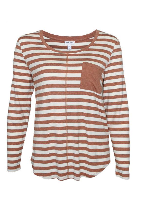 Casey Striped Long Sleeve, , original image number 1