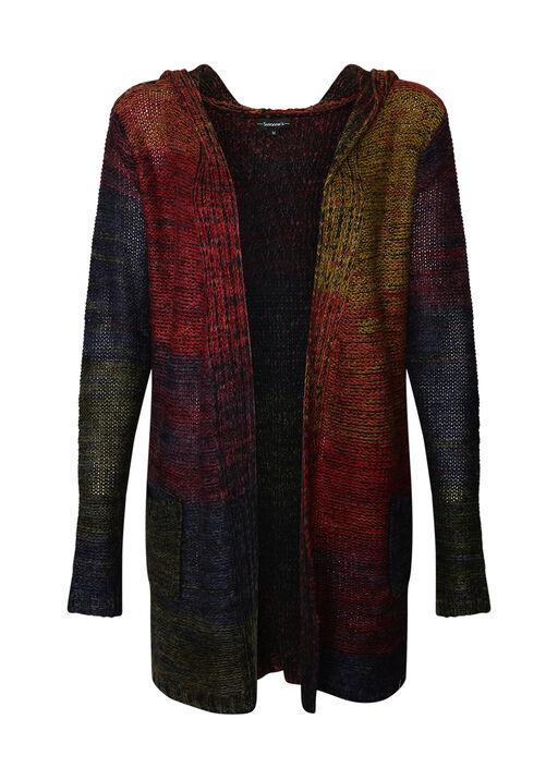 Rainbow Hooded Cardigan, Multi, original
