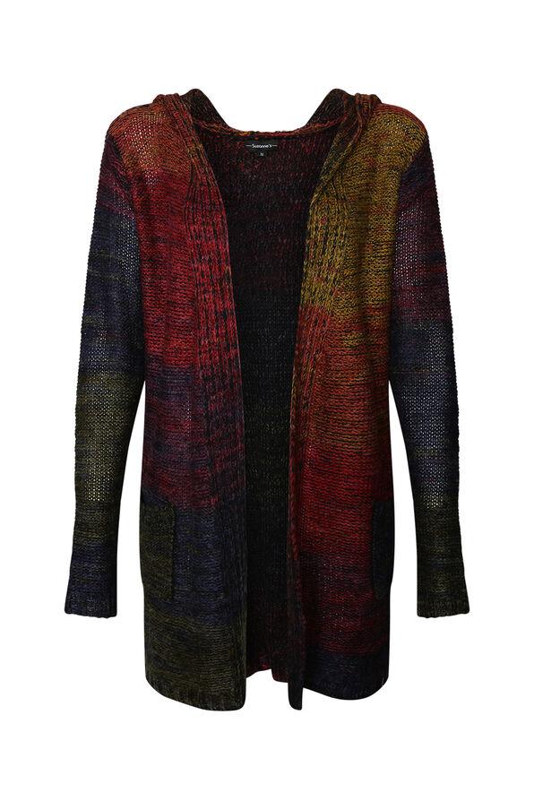 Rainbow Hooded Cardigan, Multi, original image number 0