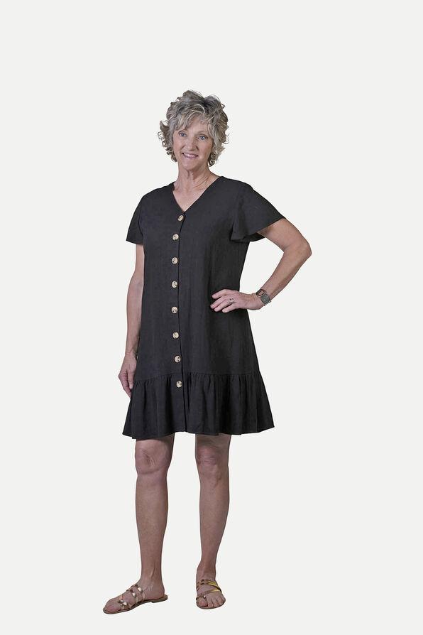 Flutter Sleeve Button Front Dress, , original image number 0