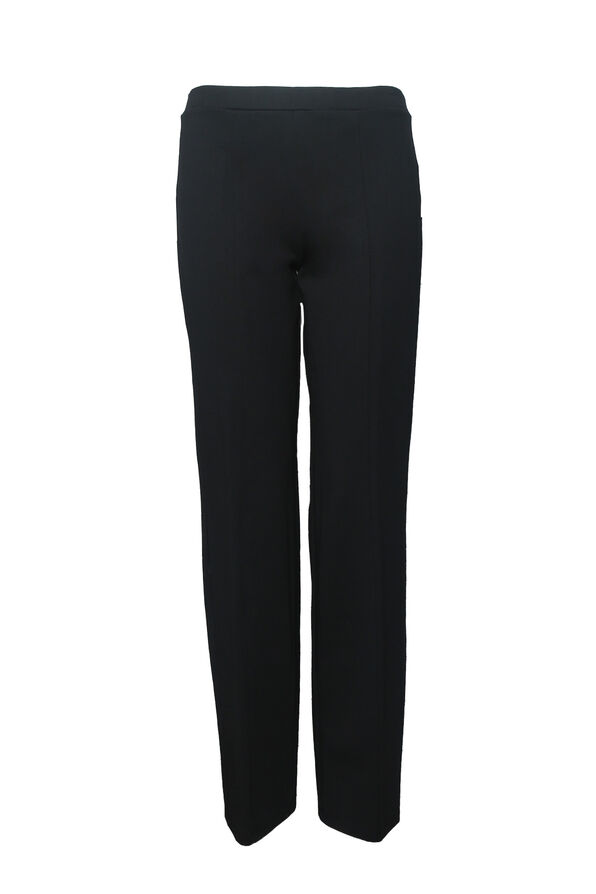 Petite Pull On Straight Leg Pant, , original image number 1