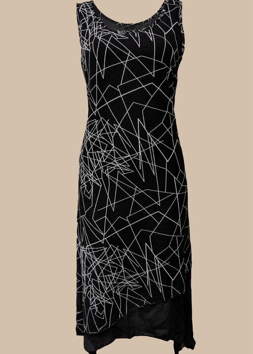 Geo Layered Dress, , original