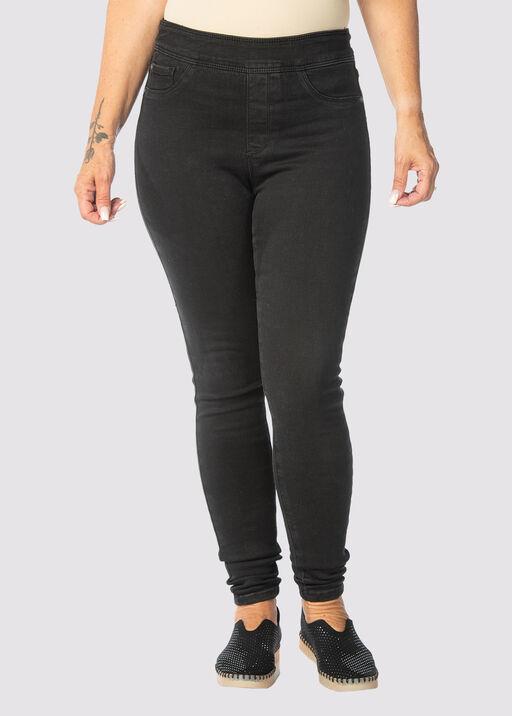Tribal Audrey Pull-On Ankle Jean, Black, original