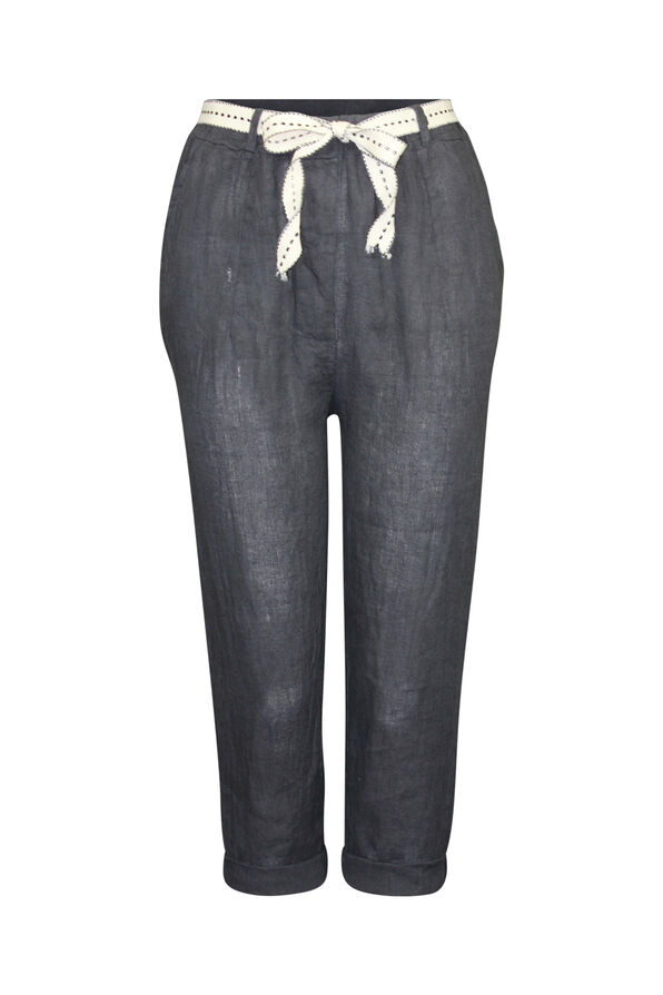 Cropped Linen Pant , , original image number 0