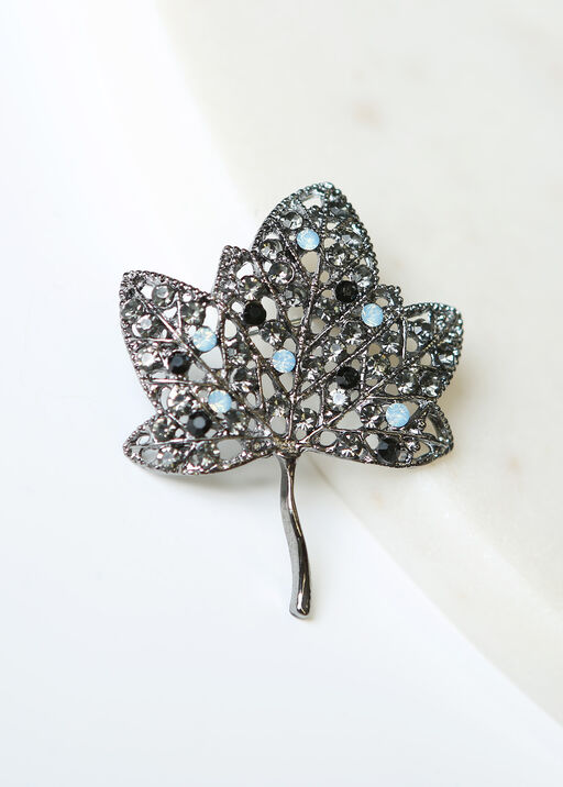 Leaf Brooch, Blue, original