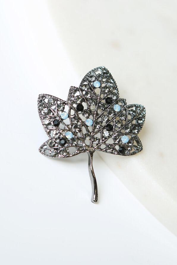 Leaf Brooch, Blue, original image number 0