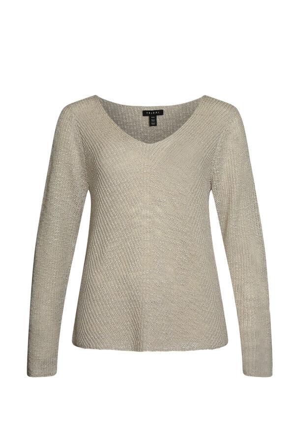 Layla V-Neck Sweater, , original image number 2
