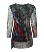 Rainbow Mesh 3/4 Sleeve Top, Multi, original image number 1