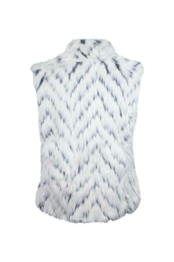 Faux Fur Vest, Cream, original image number 1
