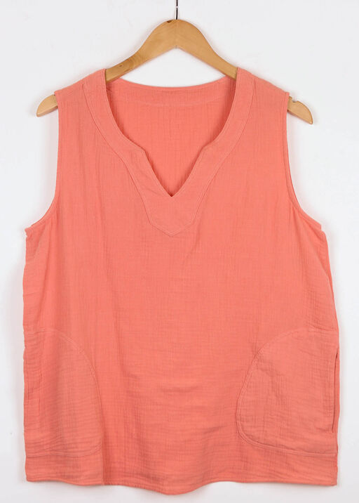 Perfectly Pocketed Sleeveless Top, , original