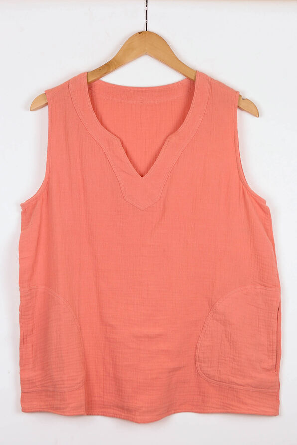 Perfectly Pocketed Sleeveless Top, , original image number 0