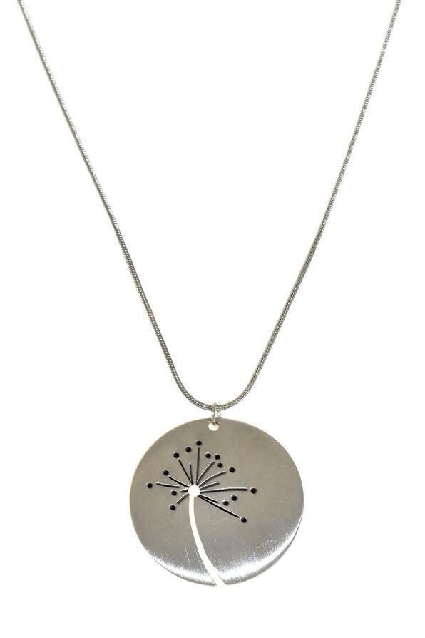 Dandelion Necklace, Silver, original image number 0