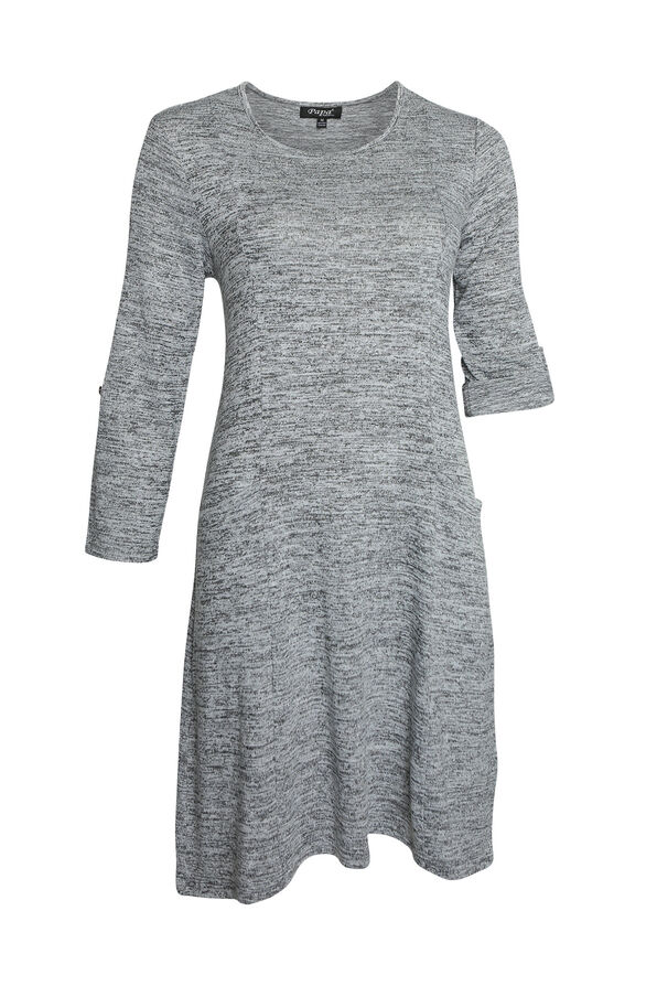 Colbie Sweater Dress, Grey, original image number 0
