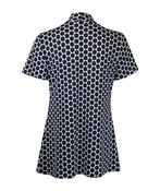 Polka Dot Short Sleeve Fooler Top, Black, original image number 1
