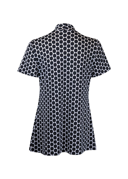 Polka Dot Short Sleeve Fooler Top, Black, original