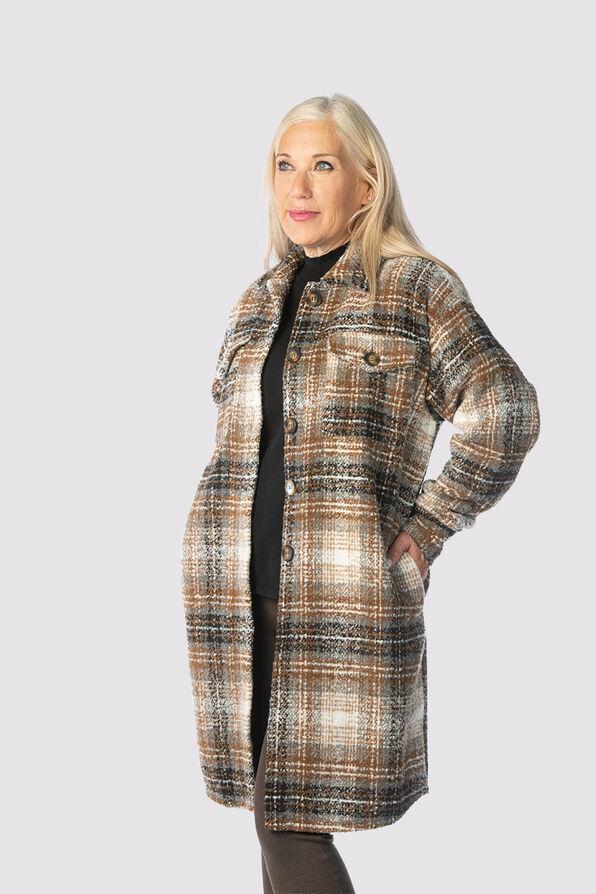 The Perfect Plaid Coat, Brown, original image number 0