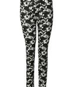 Flower Print Pant , Black, original image number 0