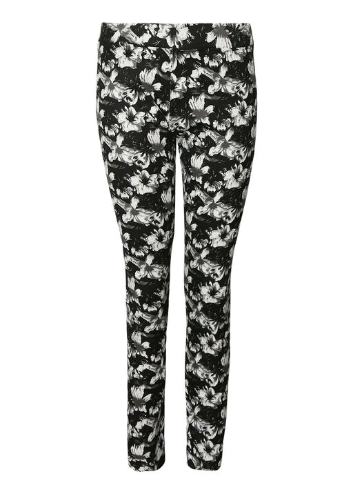 Flower Print Pant , Black, original