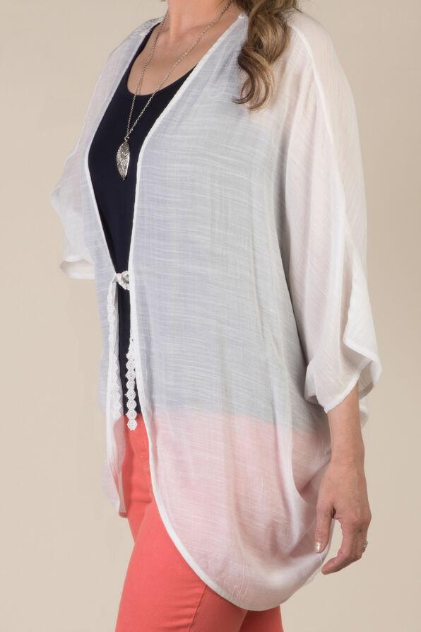 Lace Back Kimono, White, original image number 3