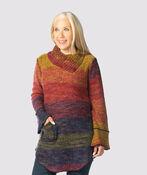 Space-Dye Groove Sweater, Multi, original image number 0