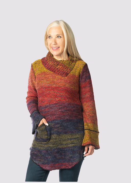 Space-Dye Groove Sweater, Multi, original