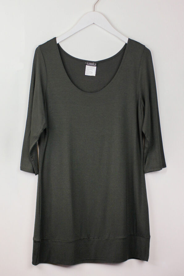 Classic Scoop 3/4 Sleeve Top, , original image number 2