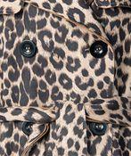 Animal Suede Coat , Brown, original image number 3