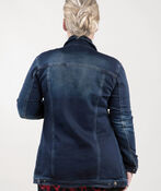 Jean Jacket Maxi, Dark Denim, original image number 1