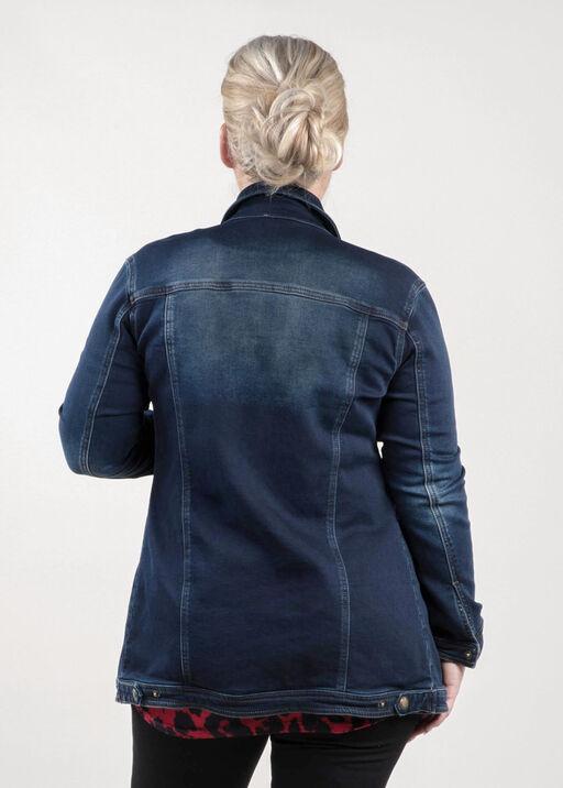 Jean Jacket Maxi, Dark Denim, original