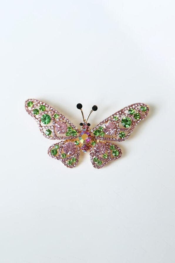 Butterfly Brooch, Pink, original image number 0