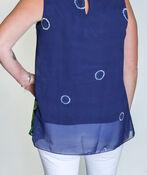 Leanna Sleeveless Blouse, Blue, original image number 2