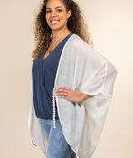 Lace Back Kimono, White, original image number 2