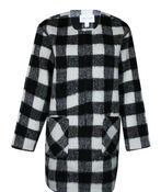 Buffalo Plaid Duster Coat, Black, original image number 0