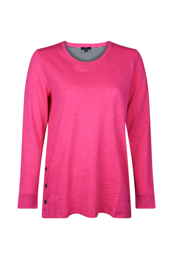 Cotton Crew Neck with Side Snaps, , original image number 5