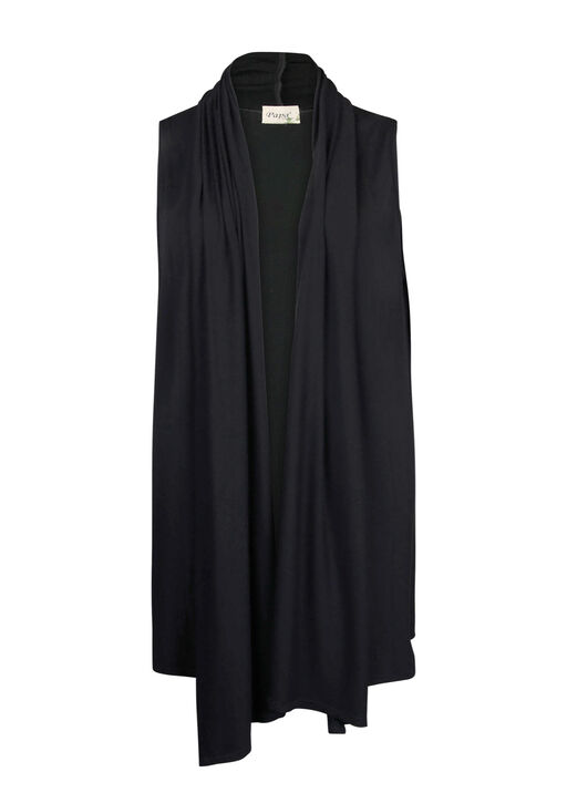 Bamboo Long Vest, Black, original