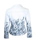 Printed Cotton Jacket, Grey, original image number 1