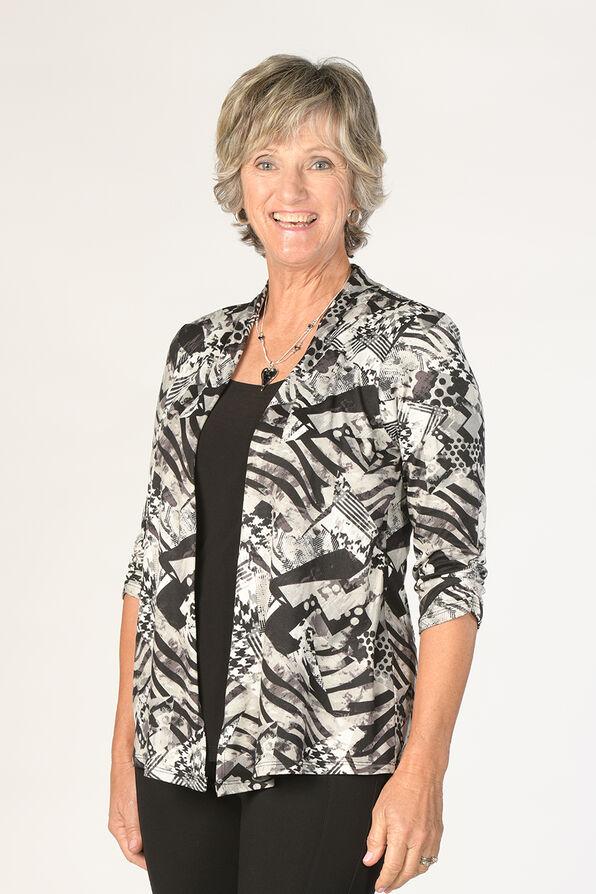 Elizabeth Cardigan Blazer, Grey, original image number 0