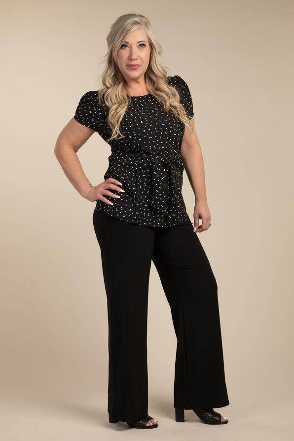 Wide Leg Dress Pant, Black, original image number 1