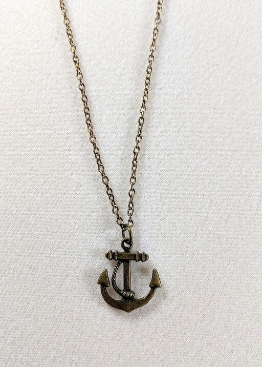 Anchor Necklace, Gold, original