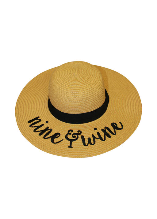 Nine and Wine Floppy Straw Sun Hat, Natural, original