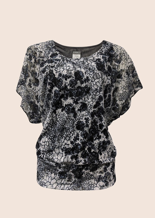 Lace and Paisley Top, Black, original