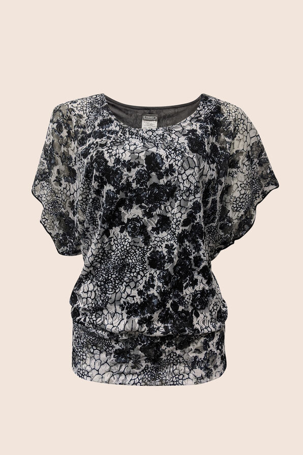 Lace and Paisley Top, , original image number 1