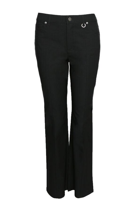 Simon Chang Micro Twill Pant Petite, Black, original image number 0