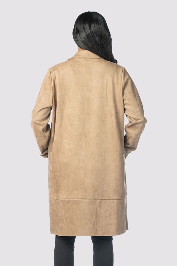 Luxor Suede Cardi-Jacket, Tan, original image number 2