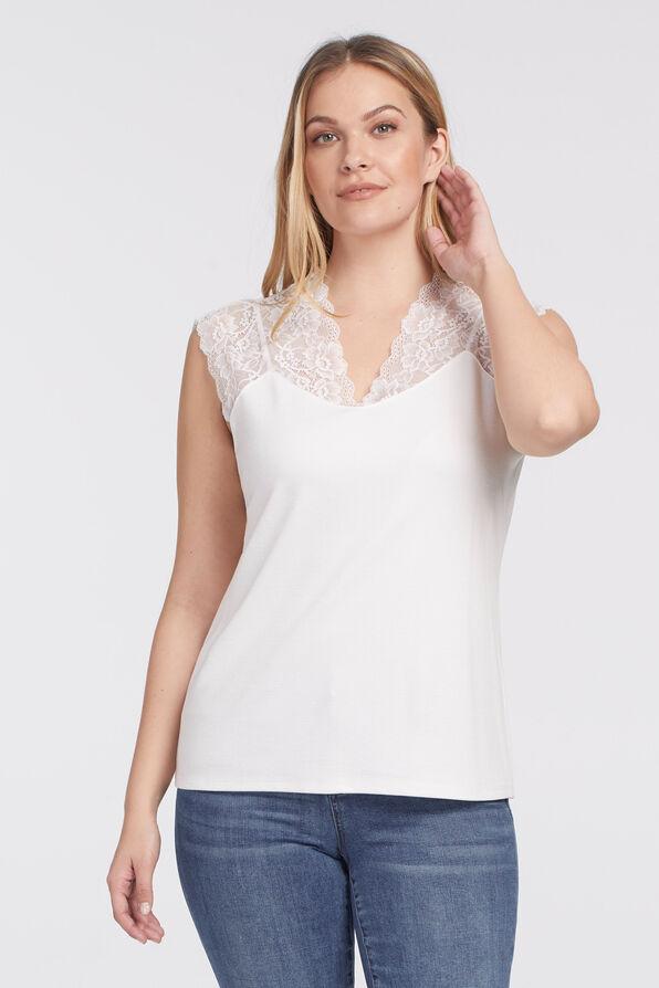 Luxe Lace Cami , Cream, original image number 0