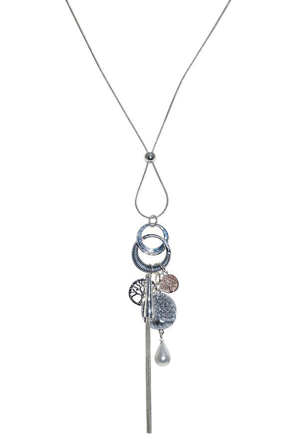 Swing Necklace, Silver, original image number 0