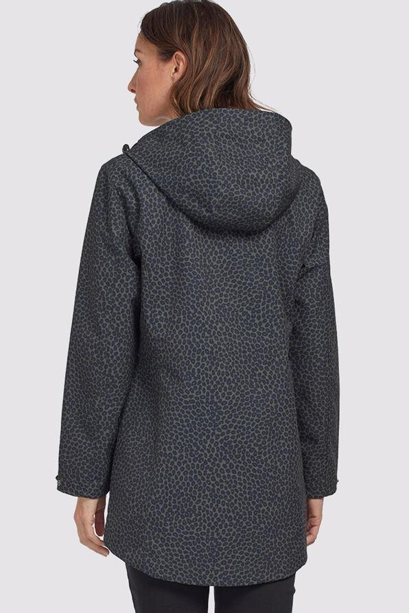 Leopard Raincoat Hoodie, Olive, original image number 1