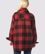 Suzanne's Plaid Shacket, Red, original image number 3