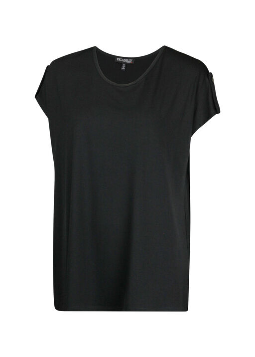 Cap Sleeve with Tab T-Shirt, , original